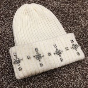 BETHANY MOTA Jeweled Beanie Hat